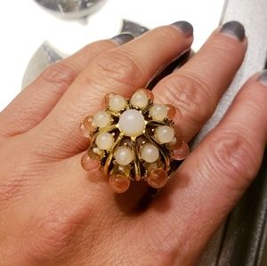 Jewelry - Pink and yellow gold tone ring, size 8